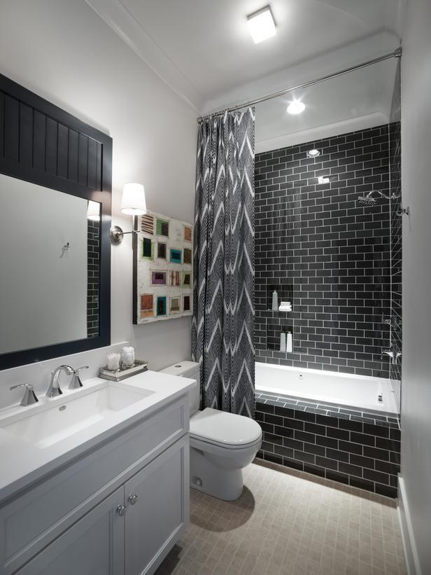 Small bathroom in grey color