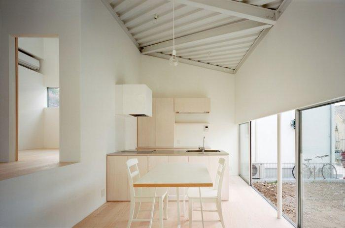 Small minimalist house and its kitchen with elegant and stylish design