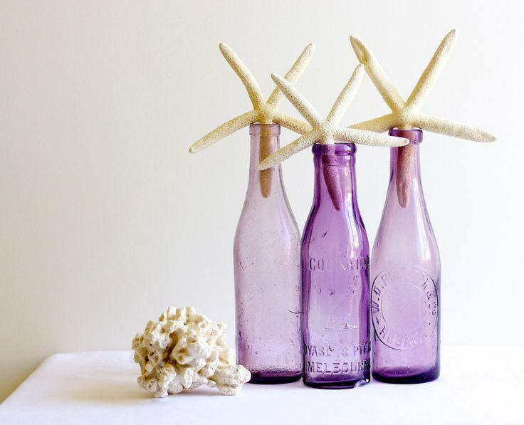 Star-fishes - in violet bottles