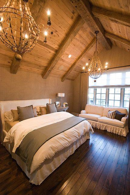 Stylish attic bedroom - with eclectic interior design