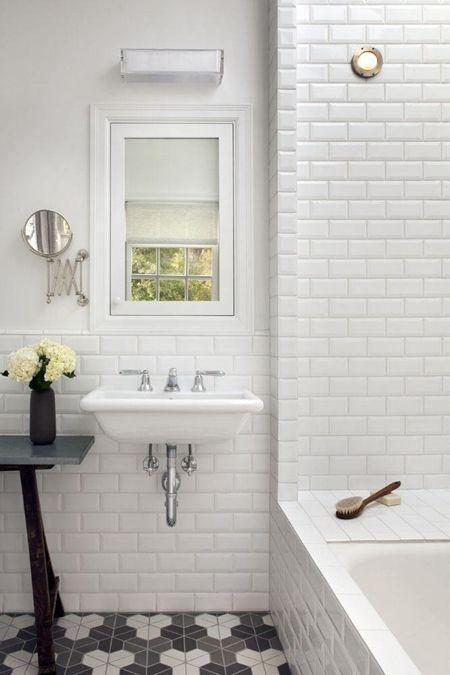 White brick tiles - for vintage interior
