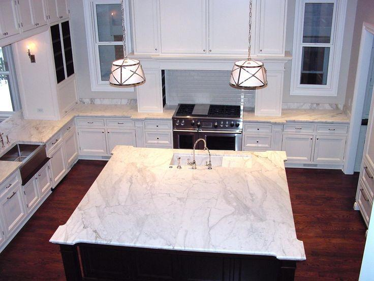 White island countertop - made of marble