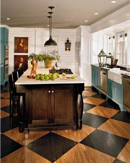 Wide countertops - in an eclectic kitchen