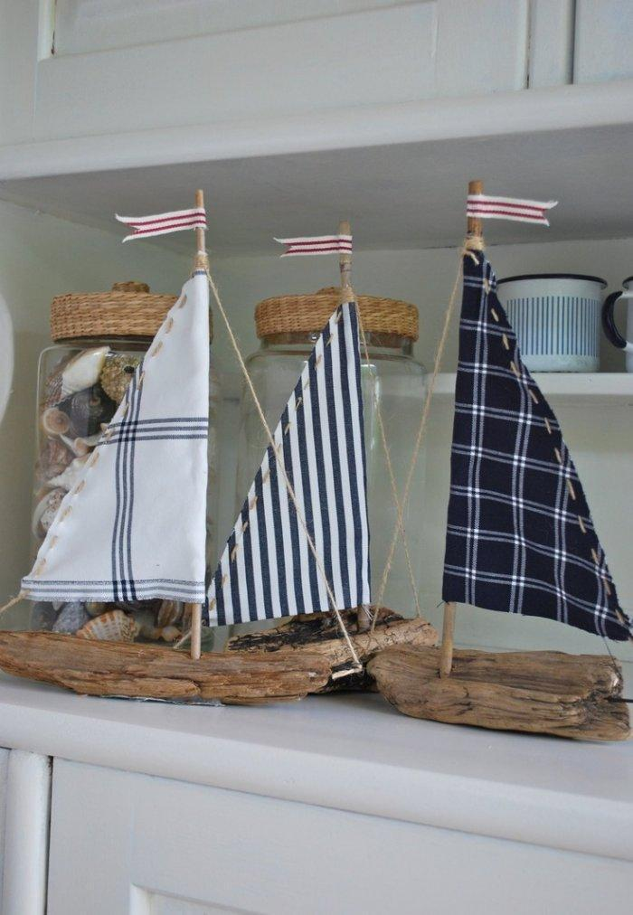 Wood boats - with fabric sails