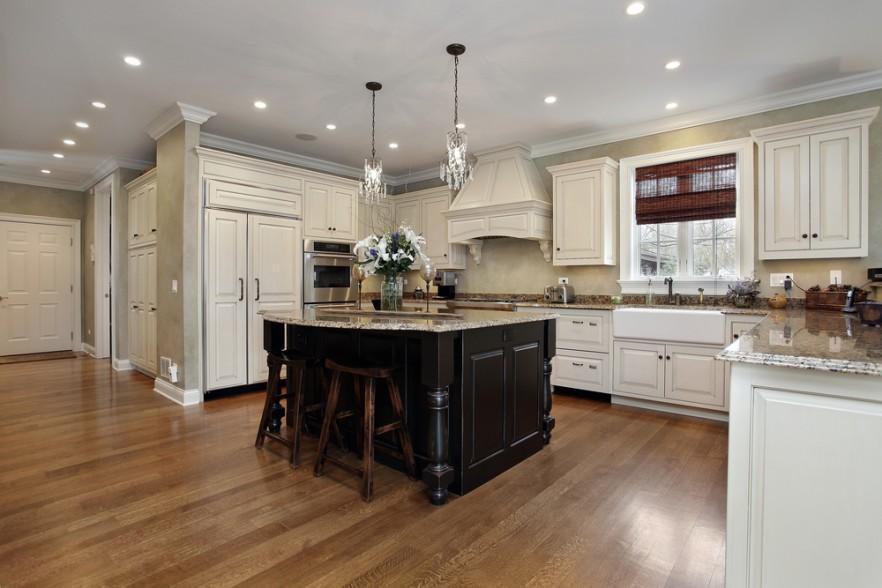 White kitchen countertops and cabinets ideas | Founterior