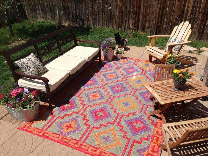 8bit outdoor rug - in vivid colors