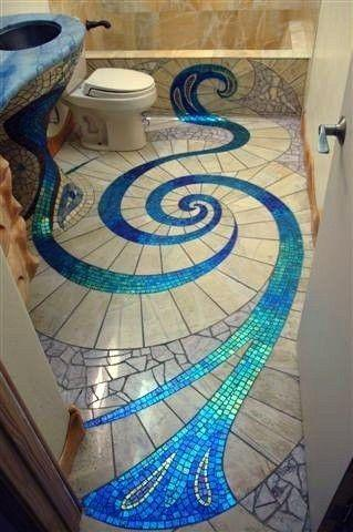Artistic Floor Tiles   Forming A Spiral