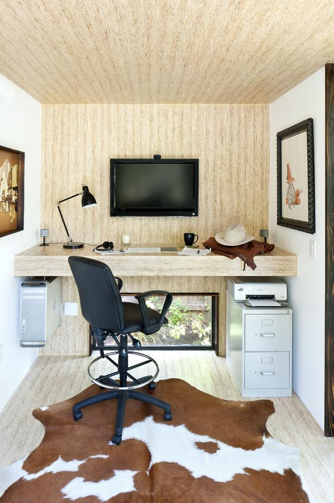 Attic computer desk - inside a small home office