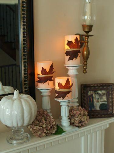 Autumn leaves decoration - for Halloween party