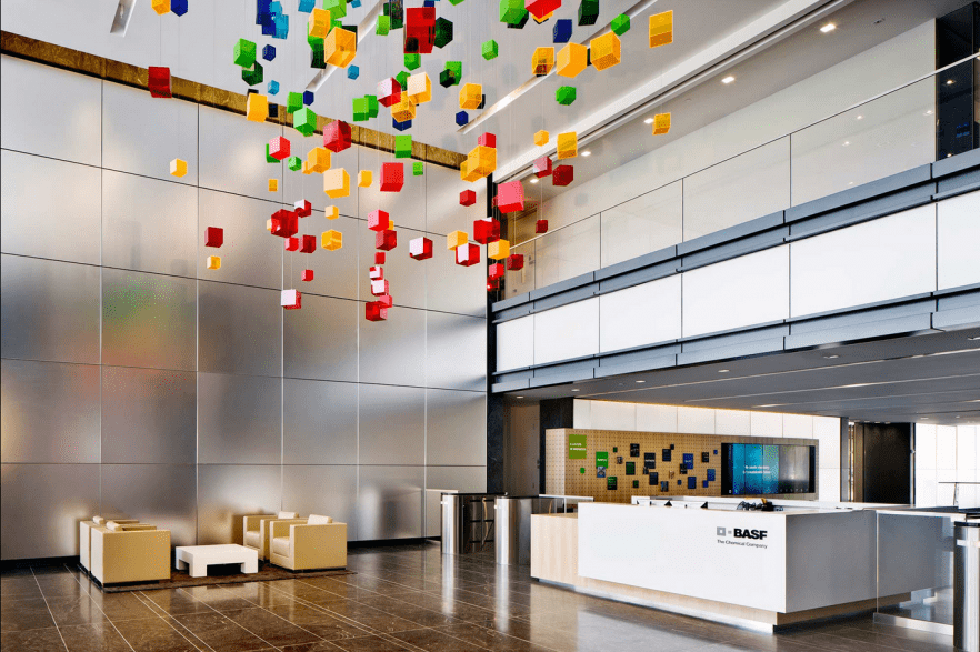 basf s modern office interior design by genstler founterior