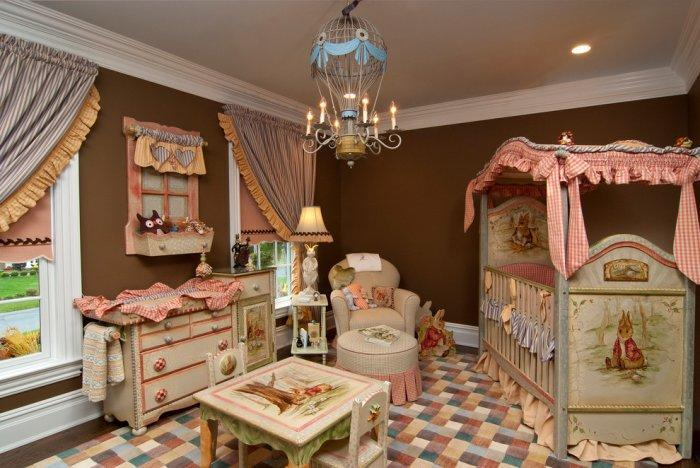 Baby decorating ideas - many details and accents into a single room