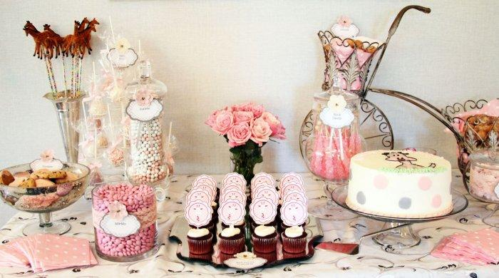 Baby shower desserts - for the time after lunch