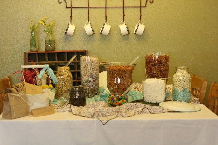 Baby shower table - prepared for the guests