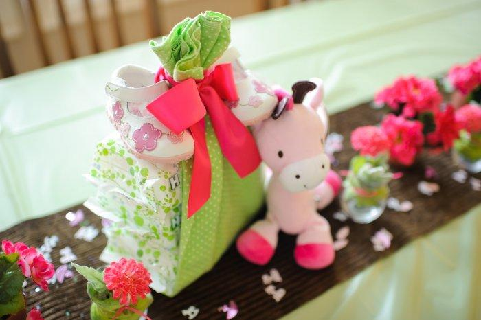 Baby shower toy - little pink cow