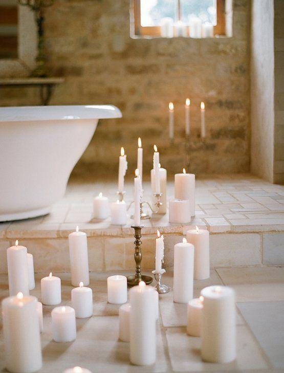 Bathroom Candles For Cozy And Romantic Atmosphere