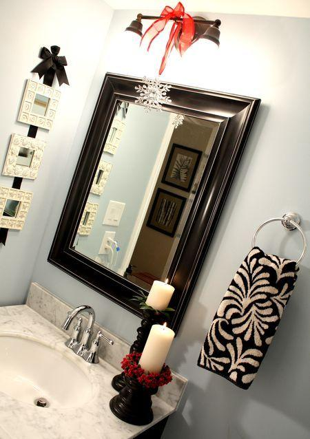 Bathroom sink candles - in white color