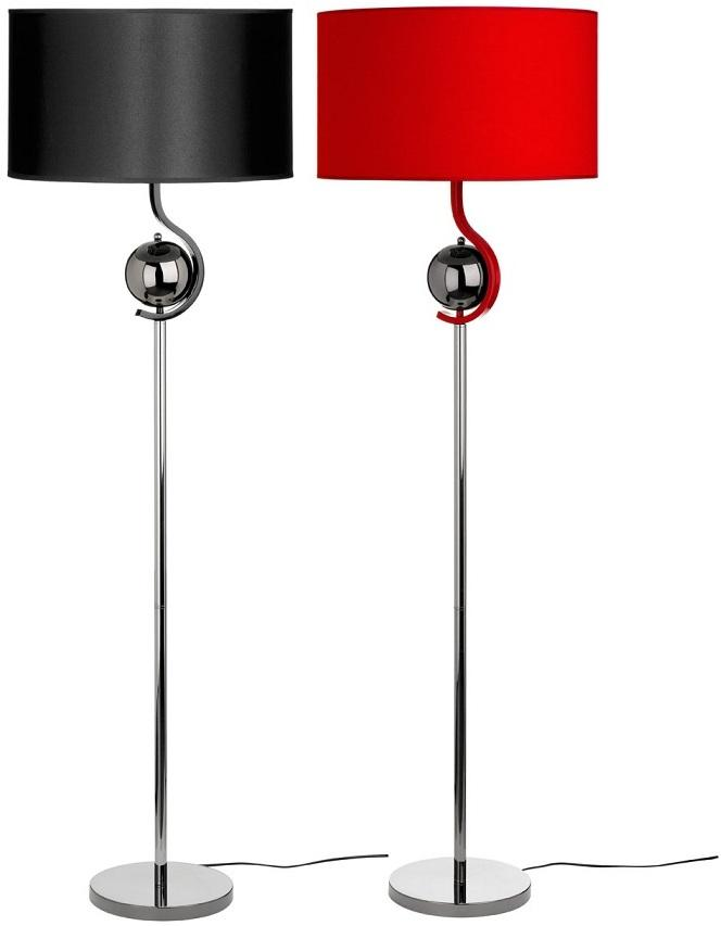 Superb Black And Red Floor Lamps   With Stylish Modern Design