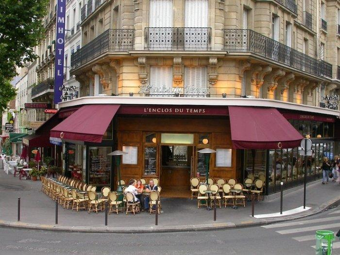 Cafe in Paris - with tables and chairs outside