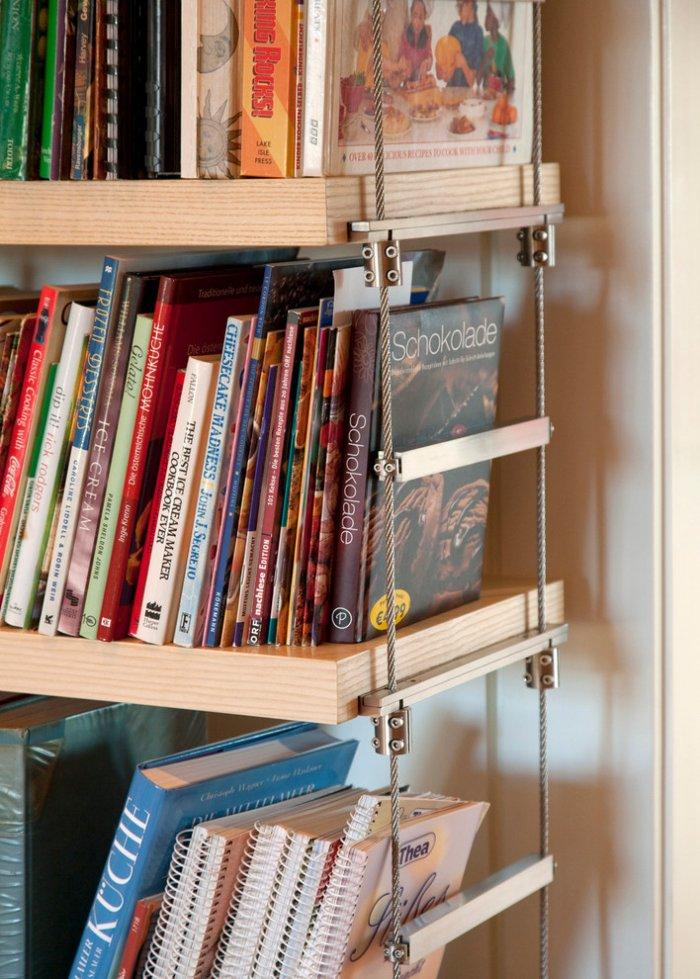 Casual home bookcase - with metal strings