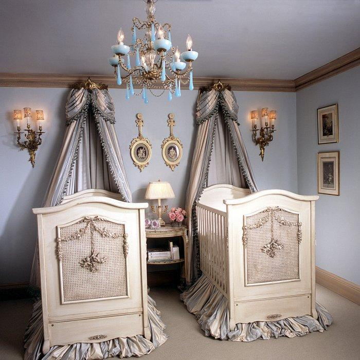 Classic baby room - with traditional baby crib