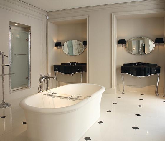 Classic bathroom vanities - in black color