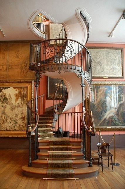 Classic spiral staircase - with various ornate details