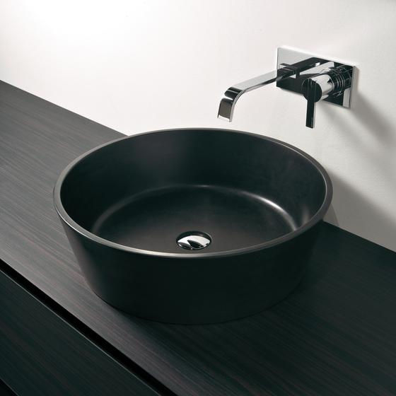Contemporary black sink - with stylish faucet