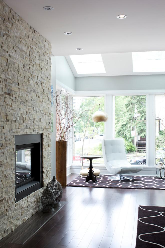Contemporary home stone fireplace - for an imressive modern look