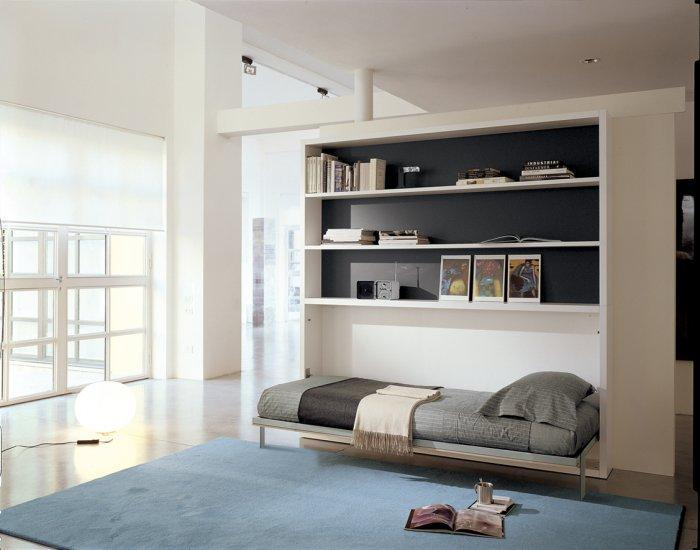 Contemporary murphy bed - in modern bedroom interior