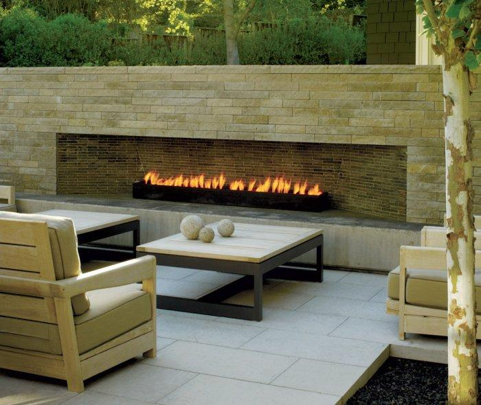 Contemporary patio stone fireplace - with ultra stylish design