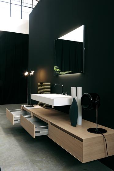 Contemporary sink design - with modern wood drawers bellow