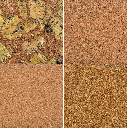 Cork tiles - four various patterns