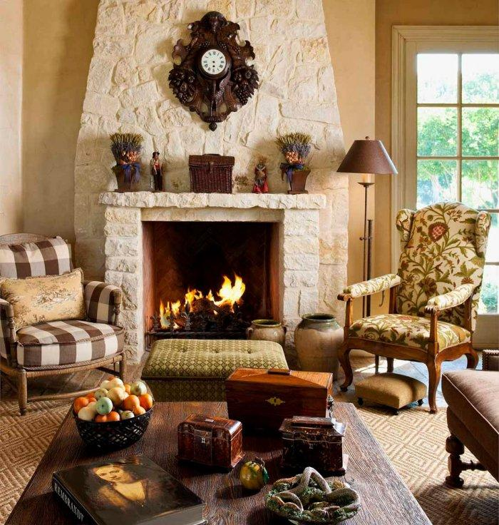 Stone fireplaces the cozy warm and stylish element - Using stone in rustic gardens elegance and drama ...