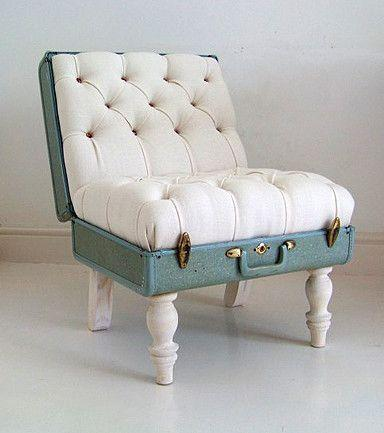Creative amrchair - made of old suitcase