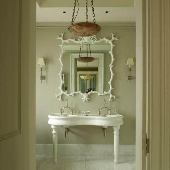 Creative bathroom mirror - in white color