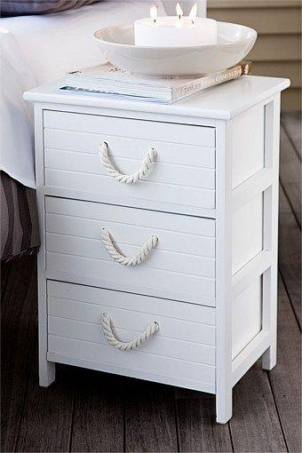 Creative bedside table - with rope drawer handle