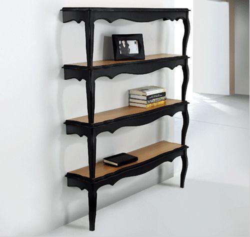 Creative bookshelves - in black color