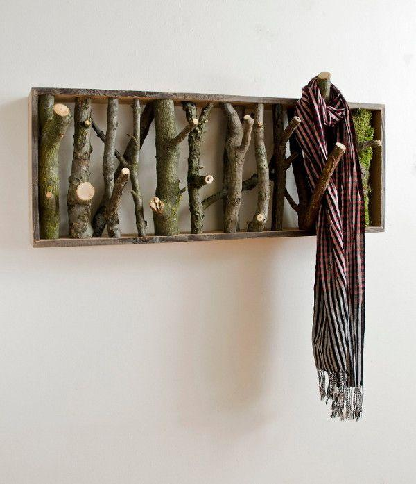Creative coat rack - made of real tree brances