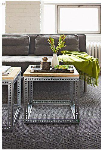 Creative coffee table - made of metal profile