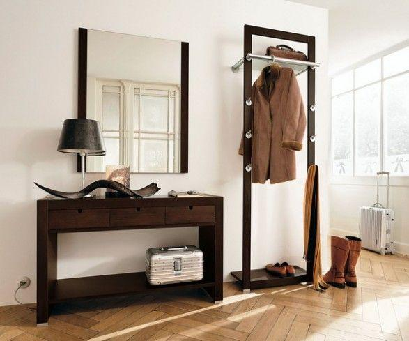 Excellent Creative Hallway Furniture Mirror Coat Rack And Small Desk Largest Home Design Picture Inspirations Pitcheantrous