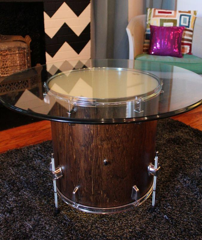 Creative living room table - made of old drum