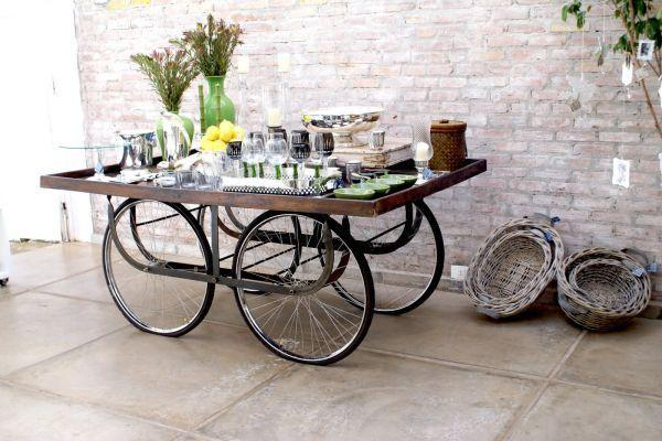 Creative mobile cart - for beverages and food