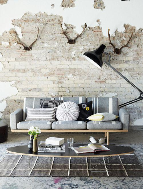 Creative modern living room - with industrial accents
