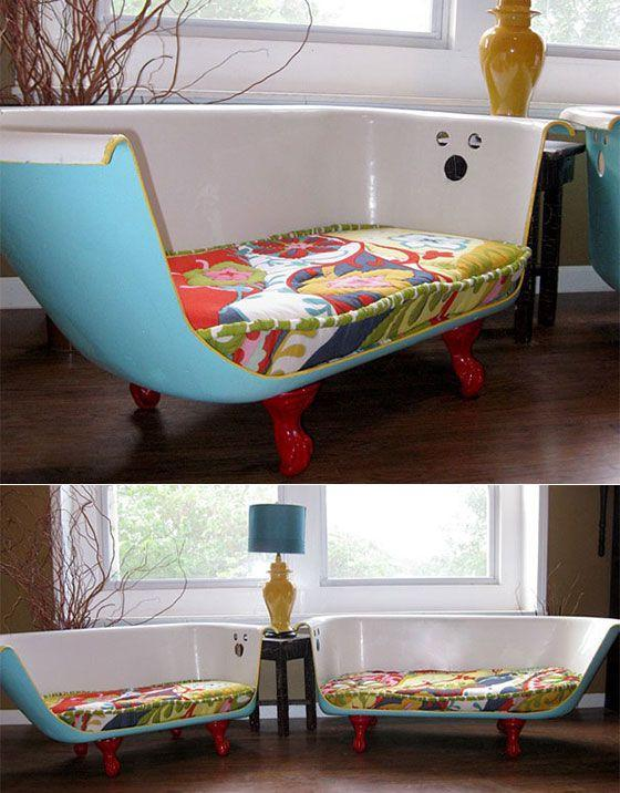 Creative ottoman - with colorful seat