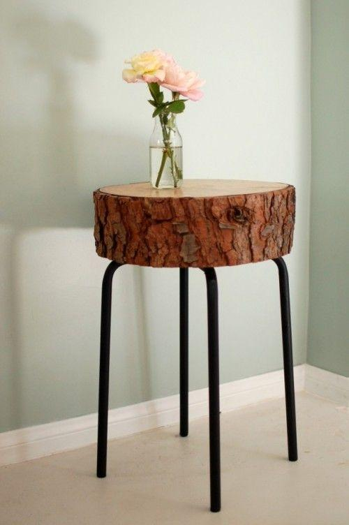 Creative stool - made of real tree trunk