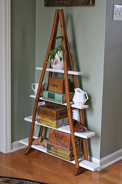 Creative wall shelf - made of wood panels