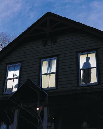 DIY Halloween scary house - with window shadows