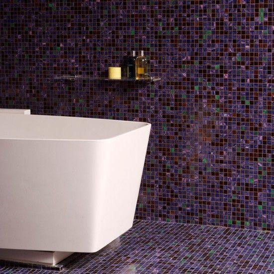 Dark mosaic tiles - made of hundred tiny pieces