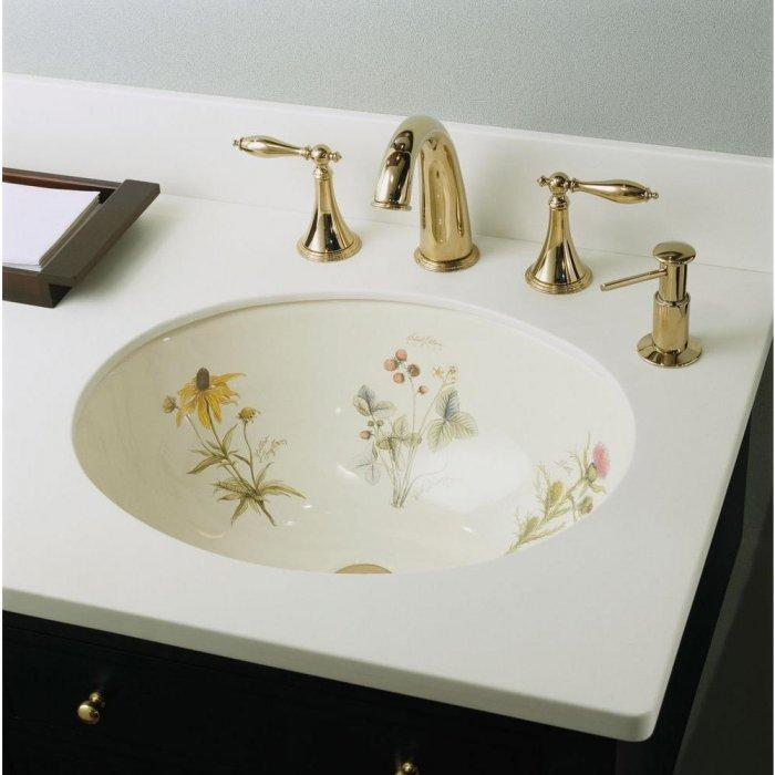 Decorative sink design - with traditional faucet