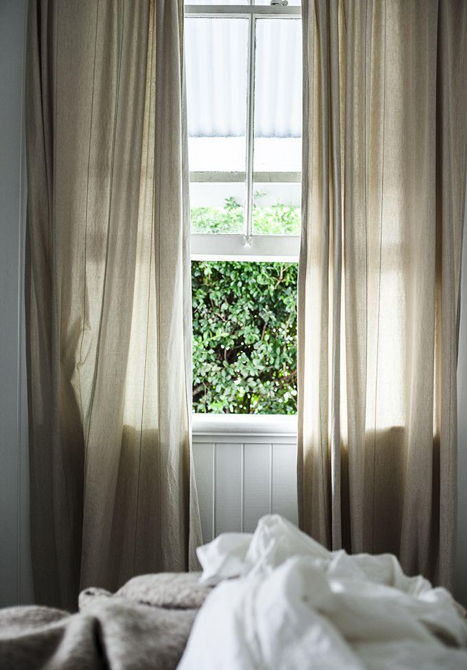 Feng shui curtains - and open window for fresh air